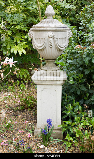 Decorative Garden Urn On Plinth   Stock Image