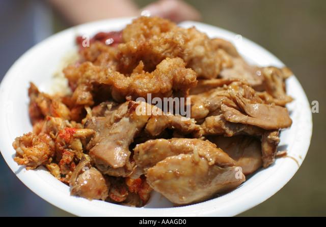 florida zydeco festival cajun food chicken stock image