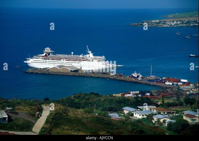 Basseterre st kitts caribbean cruise stock photos for Port zante st kitts