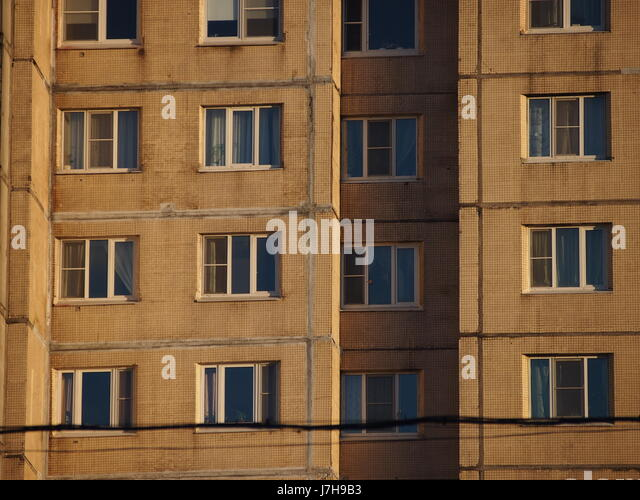Soviet Apartment Block Stock Photos & Soviet Apartment
