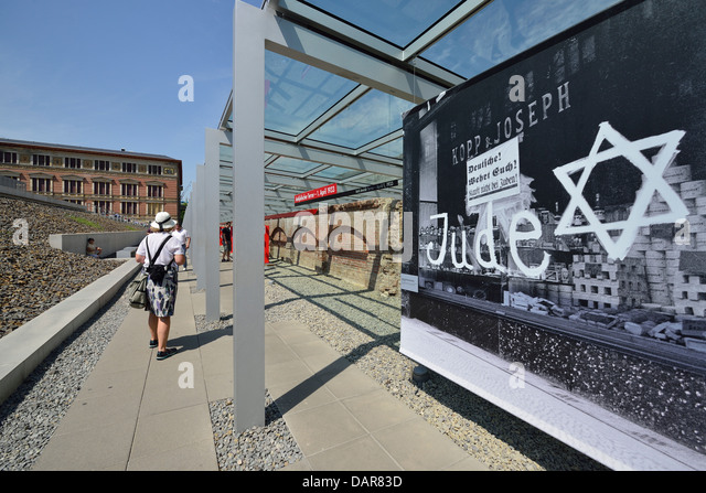 Tourists at the topography of terror exhibition the former site of