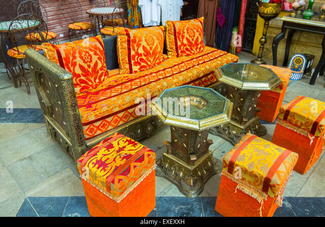 Arabic Style Furniture To Sit For Tea   Stock Image