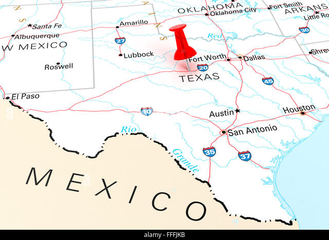 D Render Usa Map Texas Stock Photos D Render Usa Map Texas - Usa map texas state