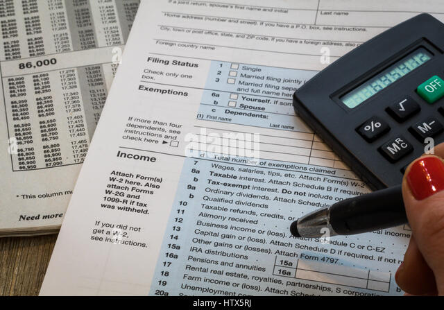 1040 Tax Form Stock Photos & 1040 Tax Form Stock Images - Alamy