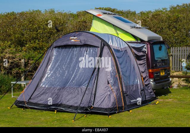 A Mazda Bongo Campervan With Vango Air Beam Awning