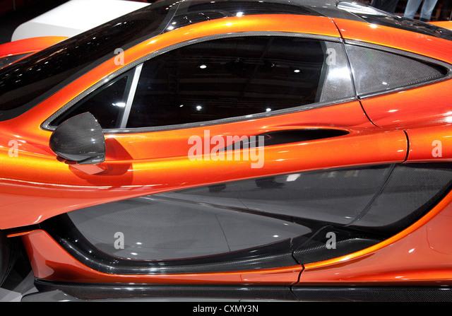 McLaren P1 Super Car At The Paris Motor Show 2012   Stock Image