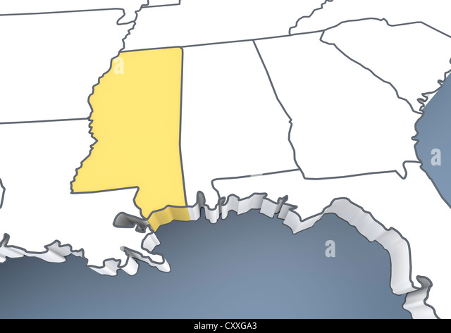 Map Of Mississippi Stock Photos Map Of Mississippi Stock Images - Map of mississippi usa