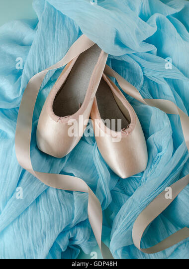 Light Blue Pointe Shoes