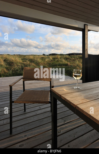 Danish summer house stock photos danish summer house for Danish terrace