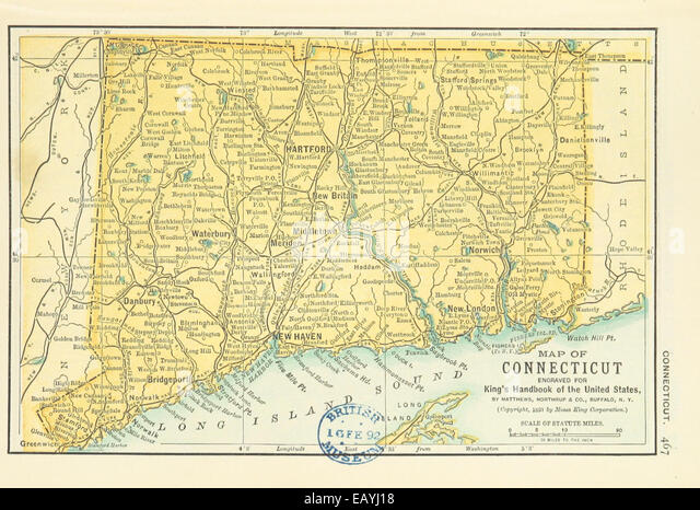 Connecticut Maps Stock Photos Connecticut Maps Stock Images Alamy - Connecticut in us map