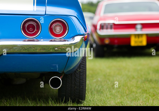 Chevrolet Camaro Rear End Abstract. Classic American Cars   Stock Image