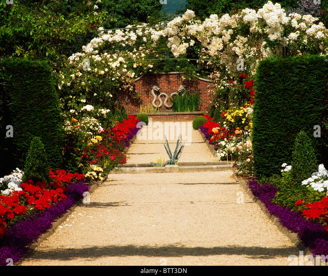 national garden exhibition centre kilquade co wicklow ireland rose arches and pathway