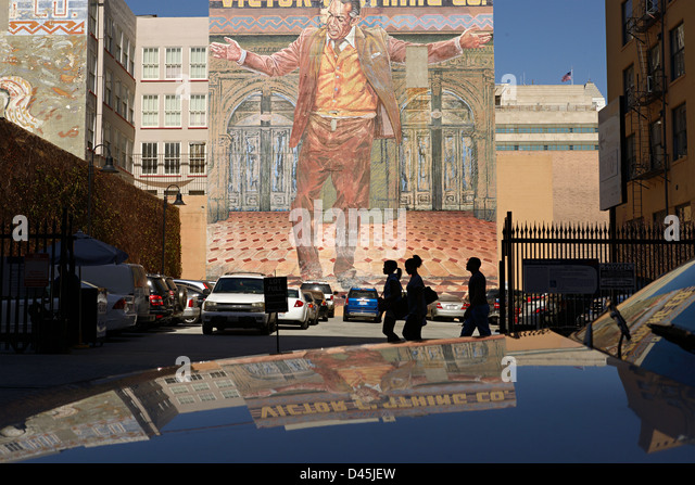 Car mural los angeles stock photos car mural los angeles for Anthony quinn mural