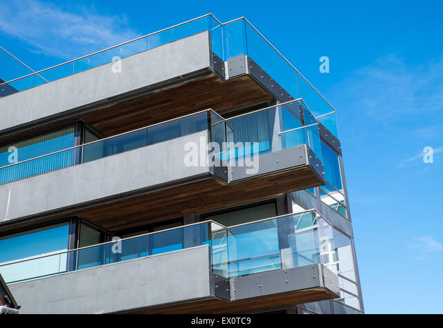 Apartment Building Balcony Plants Stock Photos Apartment