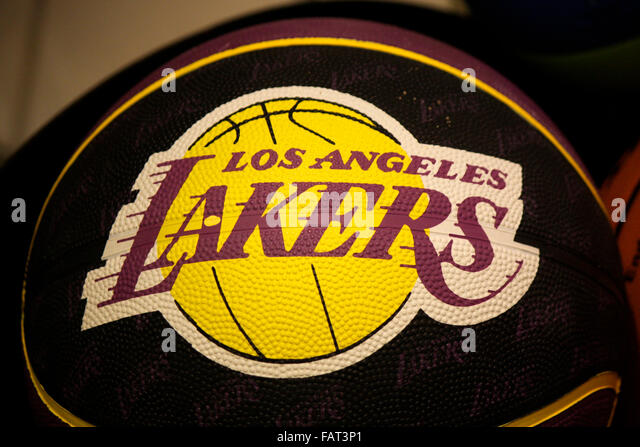 Lakers logo stock photos lakers logo stock images alamy markenname la lakers berlin voltagebd Choice Image