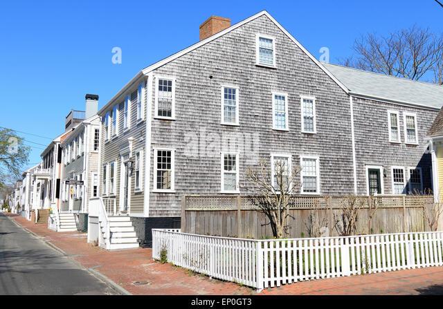 Nantucket downtown stock photos nantucket downtown stock for Nantucket shingles