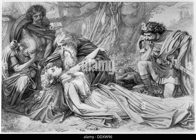 an analysis of king lears death in the play of william shakespeare The destitute figure in shakespeare's king lear and miller's death of a william shakespeare's lear and king of g lear kinas a play from the.