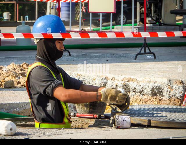 Technician Repairing Maintenance Fuel Pipe Stock Photos ...
