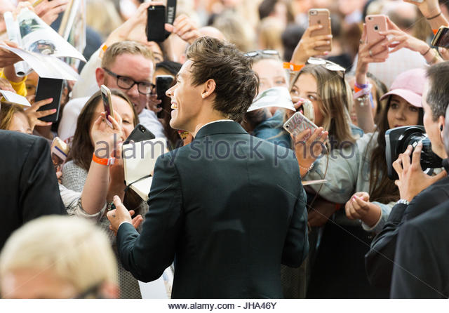 London, London, UK. 13th July, 2017. Harry Styles of pop group One Direction attends the Dunkirk World Film Premiere. - Stock Image