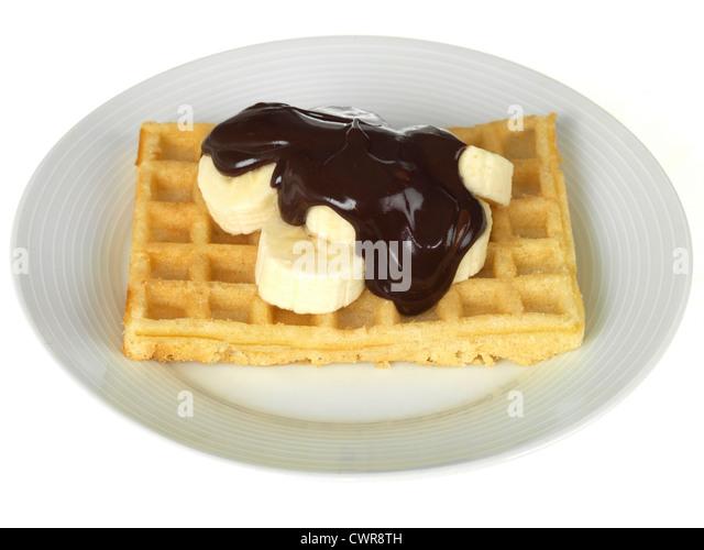 ... waffles with banana and dark chocolate banana and dark chocolate