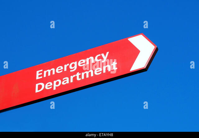 Emergency department sign stock photos emergency department sign emergency department sign stock image sciox Image collections