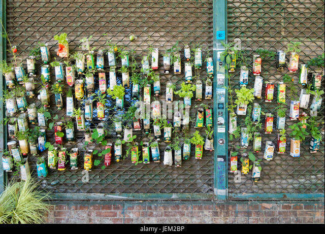 Charmant BERLIN, GERMANY   June 2, 2017: Old Beverage Cartons Used As Plant Pots