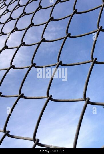 cyclone fence stock image