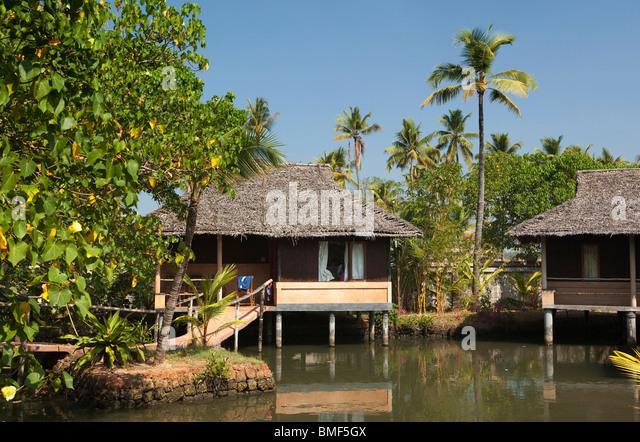 Nine Palm Bungalow Awas Beach Alibaug Maharashtra: Bungalows India Stock Photos & Bungalows India Stock