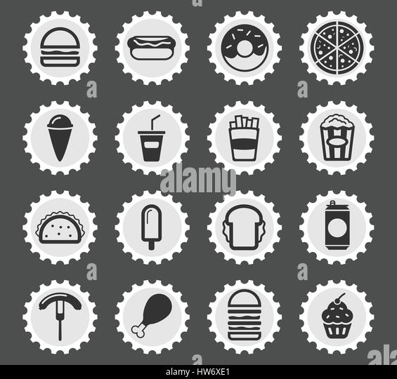 Fast Food Simply Symbol Web Stock Photos Fast Food Simply Symbol