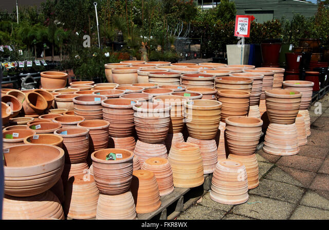 Terra Cotta Flower Pots Stock Photos Terra Cotta Flower Pots Stock Imag