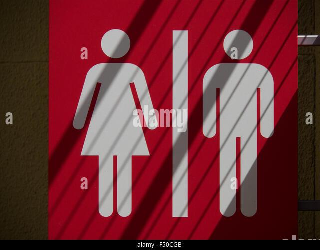 Bathroom Signs Holding Hands bathroom sign stock photos & bathroom sign stock images - alamy