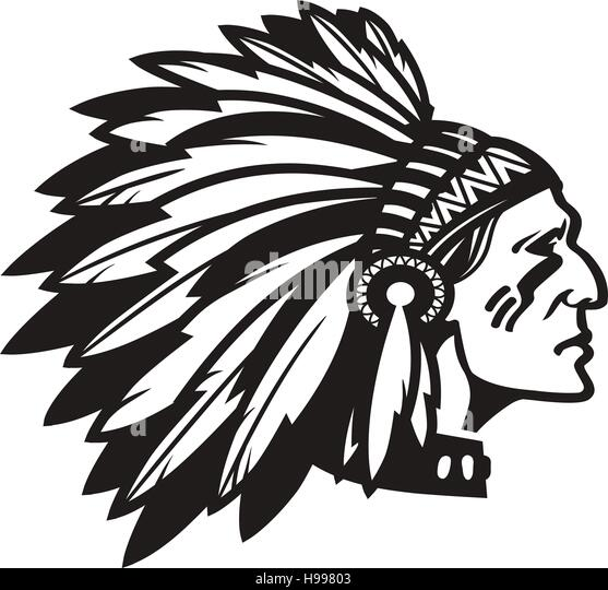 cherokee indian leader stock photos   cherokee indian Black and White Banner Clip Art Lead Clip Art Black and White