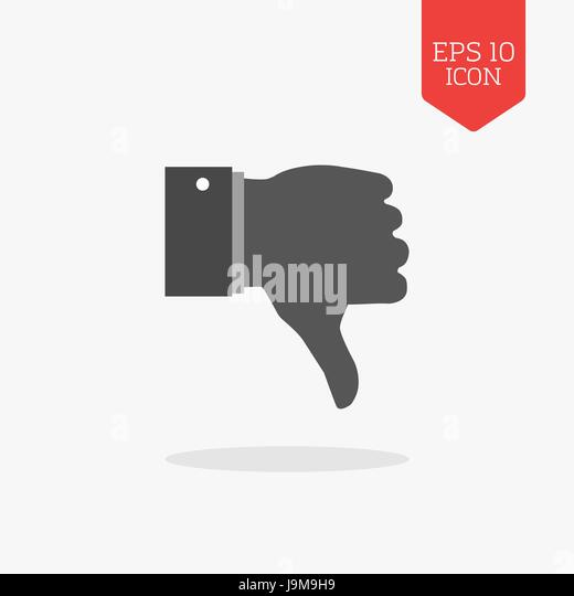 Dislike Sign Icon Thumb Down Stock Photos Dislike Sign Icon Thumb