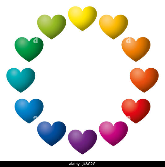 Rainbow Heart Symbol Stock Photos Rainbow Heart Symbol Stock