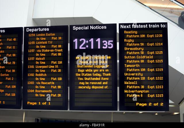 Train departures board uk stock photos train departures - Kings cross ticket office opening times ...