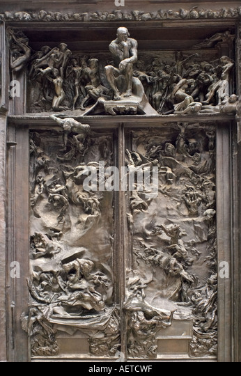 Musee Rodin in Rue de Varenne. The Gates Of Hell in & Gates Of Hell Stock Photos \u0026 Gates Of Hell Stock Images - Alamy