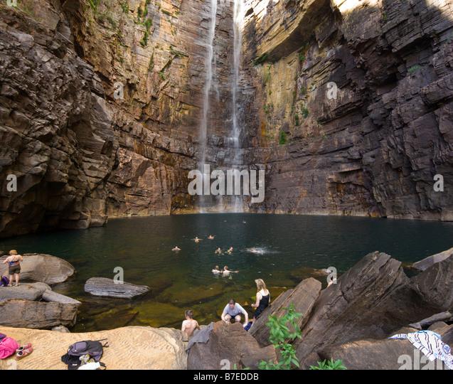 Jim Falls Kakadu National Park Waterfall Stock Photos