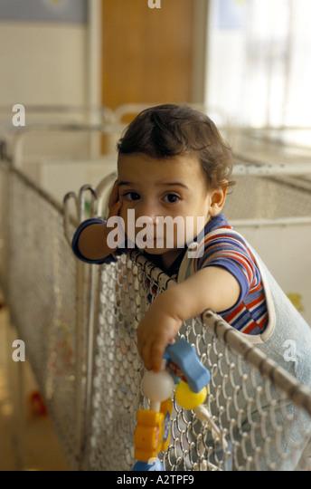Baby Standing Cot Stock Photos & Baby Standing Cot Stock ...