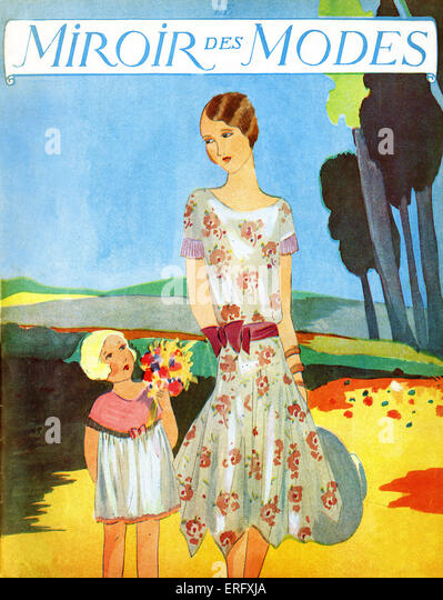 Mother and daughter 1920s stock photos mother and for Miroir des modes