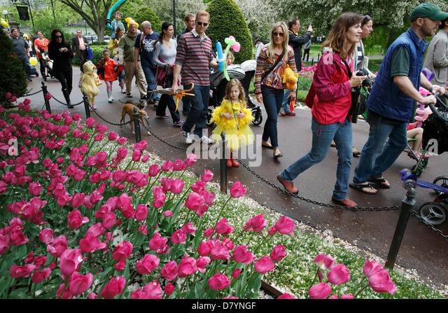 Public Garden Boston And Spring Stock Photos Public Garden Boston And Spring Stock Images Alamy