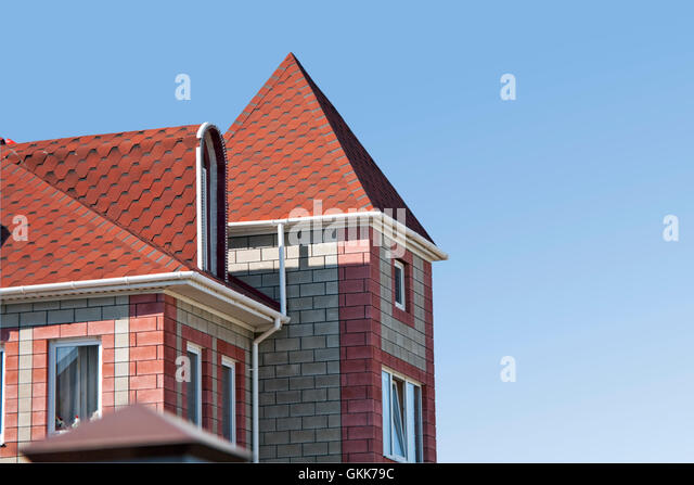 Front Exterior Red Brick Detached Stock Photos Front