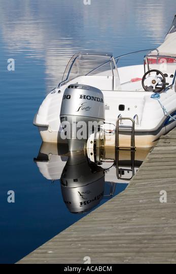 Honda Outboard Motor Stock Photos Honda Outboard Motor
