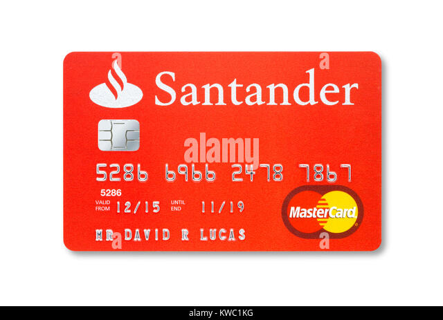 Santander bank card stock photos santander bank card - Cad santander ...