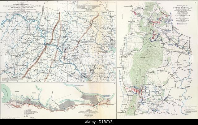 Antietam Map Plan Battlefield Military Atlas War Battle American Civil History North South Yankee Reb Rebel
