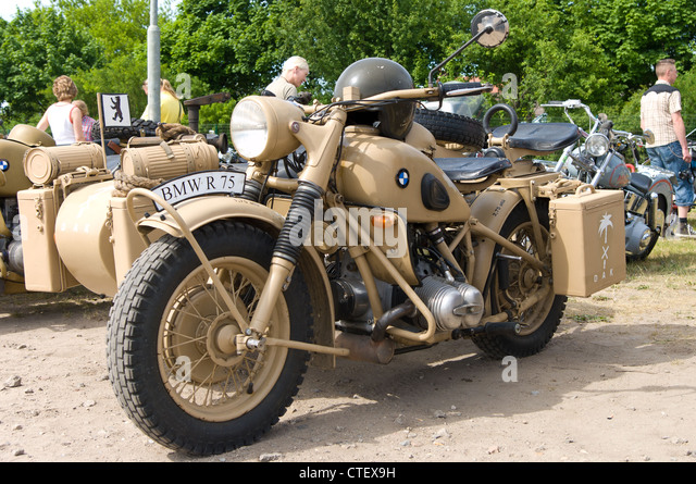 old bmw motorcycle sidecar vintage stock photos & old bmw