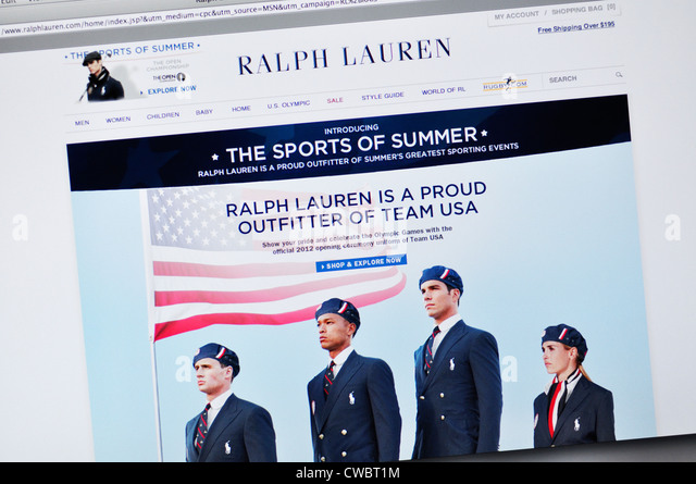 Ralph Lauren website - fashion clothing - Stock Image
