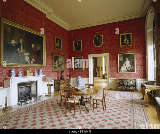 Stately Home Interior Wallpaper Stock Photos Stately
