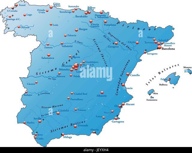 Map Od Spain Stock Photos Map Od Spain Stock Images Alamy - Barakaldo map