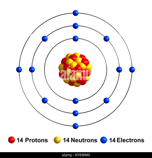 3d Bohr Model Of Silicon 76577 Loadtve