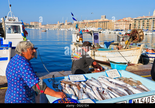 Marseille port fish stock photos marseille port fish for Ports o call fish market